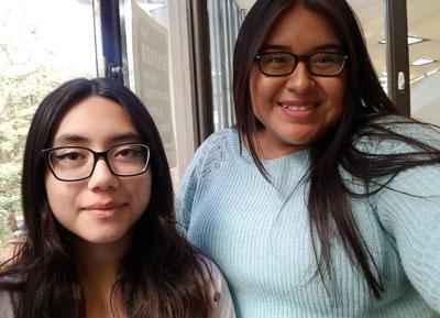 Sharon Marcos and Jocelyn Lopez
